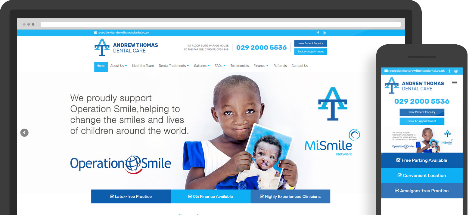 Andrew Thomas Dental Website